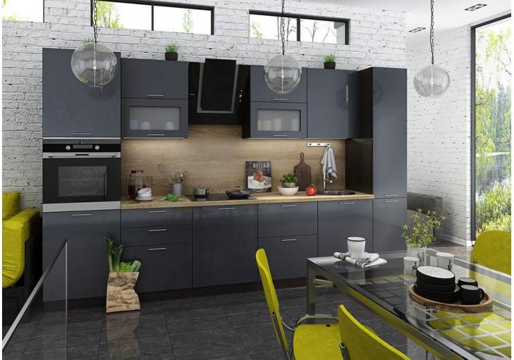 Модульная кухня Валерия (Графит)